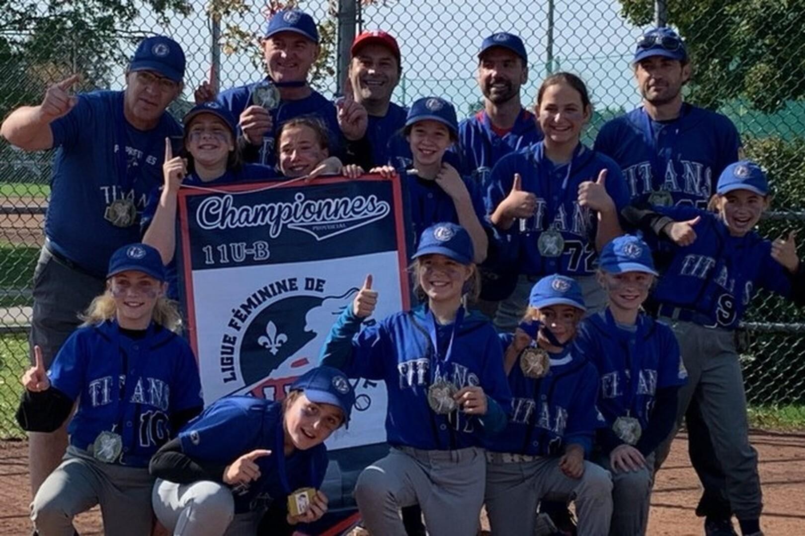 Championnes 11uB - LFBQ - Titans Bleues de Tétreautville