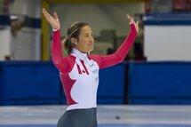 Après trois cycles olympiques au sein de l'Équipe nationale courte piste, Valérie Maltais fait officiellement la transition vers le longue piste! — Photo Claude Rochon