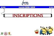 Saison 2018-2019 :  Inscriptions en ligne