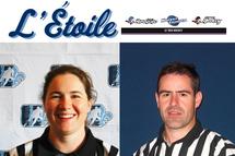 L'Étoile du mois officiels Le Trio Hockey – Gabrielle Ariano-Lortie et Yanick Massé