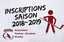 Inscriptions saison 2018-2019