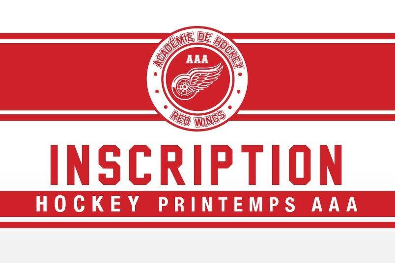 Inscrivez-vous au Hockey de Printemps AAA