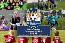 Offre d'emploi: Le FC Chalenger de Mirabel est présentement à la recherche de nouveaux talents pour remplir les rôles de formateurs / éducateurs pour les catégories U4 à U8