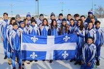Le Québec était représenté par 23 patineurs, à Winnipeg, aux Championnats canadiens longue piste par catégorie d'âge. — Photo Laurent Bolf