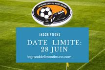 Date limite des inscriptions - 28 juin