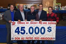 The Quebec International Pee-Wee Hockey Tournament supports Patro Roc-Amadour's mission