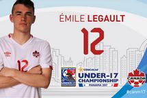 Émile Legault au Championnat masculin U-17 de la CONCACAF avec l'équipe canadienne