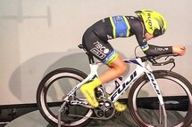 Lex Albrecht, Fuji bikes, Edco Wheels, in the Faster windtunnel in Scottsdale Arizona