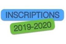 Inscriptions Saison 2019-2020
