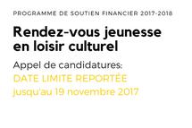 Rendez-vous jeunesse en loisir culturel 2017-2018