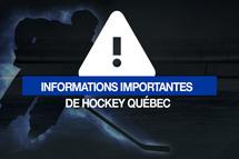 Hockey Estrie - Suivi Coronavirus - En attente du suivi de la Fédération