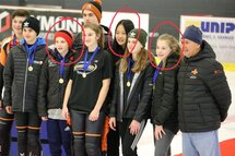 De gauche à droite : Samuel Philippe, Ayisha Qi Miao et Flavie Bergevin