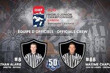 Deux officiels québécois au Championnat mondial junior de 2019