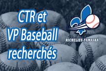 Coordonnateur technique régional et VP Baseball recherchés