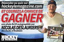 Gagnez une photo 8 X 10 autographiée par l'attaquant Nicolas Deslauriers !