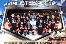 Peewee B Canadiens were finalists in the St Laurent Tournament