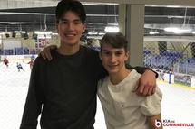 Noé Millette-Lamoureux et Nickolas Bergeron
