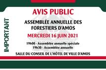 Assemblée annuelle des Forestiers le 16 juin