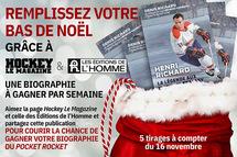 Concours   Hockey Le Magazine et les Éditions de l'Homme remplissent votre bas de Noël