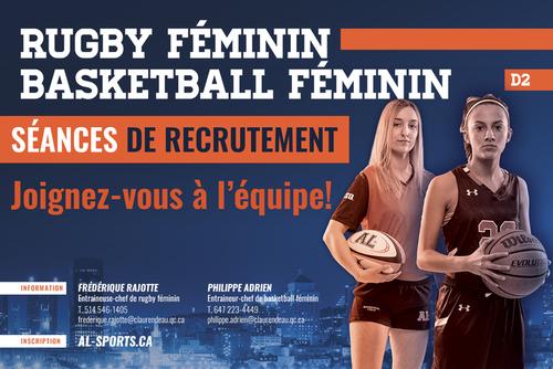 Recrutement - Rugby féminin et basketball féminin