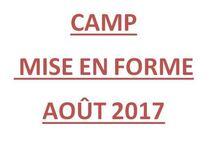 Camp de mise en forme - Août 2017