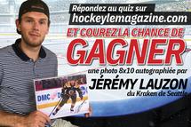 Gagnez une photo 8 X 10 autographiée par le défenseur Jérémy Lauzon!