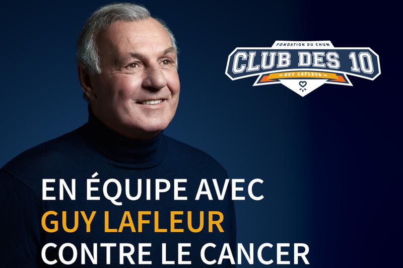 En équipe avec Guy Lafleur contre le cancer