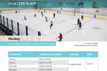 Inscription hockey 4 vs 4