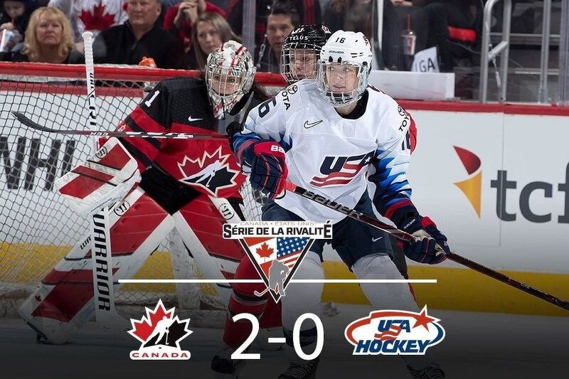 Le Canada remporte la série de la rivalité contre les États-Unis