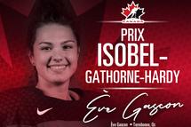 Ève Gascon lauréate du prix Isobel-Gathorne-Hardy