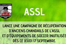 L'ASSL lance une campagne de récupération d'anciens chandails et équipements!