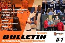 Bulletin #1 - Les nouvelles du basketball Québécois