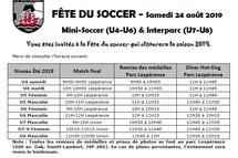 Fête du soccer - Samedi 24 août 2019