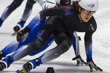 Jean-Sébastien Beaulne a remporté la compétition chez les hommes. — Photo Claude Rochon aux Championnats canadiens courte piste