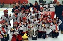 Titans de Laval-Est Novice A : Trois fois Champions- Tournoi de Delta, Tournoi Saint-Laurent et Tournoi Cougar Cup à Ottawa