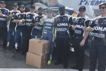 Alex Tagliani and the crew of the #18 Tagliani Autosport car
