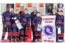 Riverains peewee AA champions tournoi Yvon Chartrand