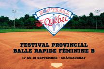 Festival provincial de balle rapide féminine B de Softball Québec 2021