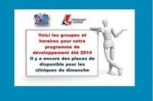 Programme de développement été 2014