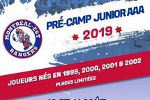 PRÉ-CAMP DES RANGERS DE MONTRÉAL-EST