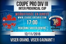 Coupe pro div. III Interprovincial Cup | Match retour