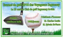 Tournoi de golf 2018 des Voyageurs Saguenay