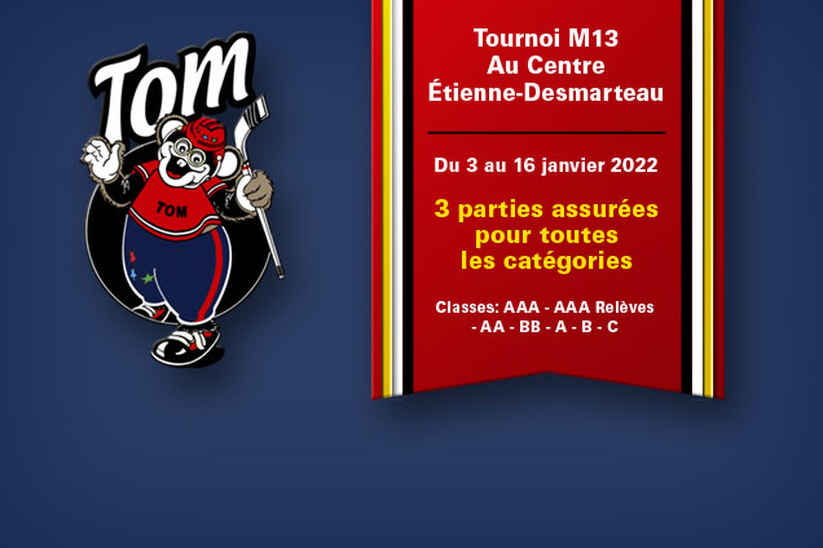 Les inscriptions sont ouvertes pour la 49ème édition du Tournoi TOM, qui se tiendra au Centre Étienne-Desmarteau