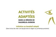 Initiation au baseball adapté dans la région de Vaudreuil-Dorion