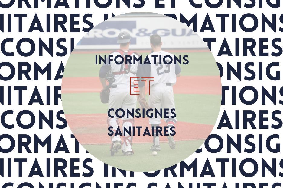 Informations et Consignes Sanitaires