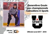 Geneviève Gouin aux Championnats universitaires canadiens féminins