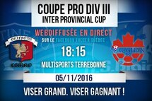 Coupe pro div. III Interprovincial Cup | Match aller
