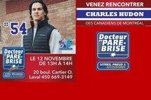 Venez rencontrer Charles Hudon le 12 novembre de 13h à 14h