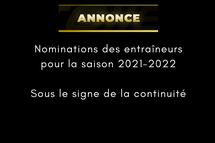 Nominations des entraîneurs saison 2021-22