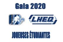 Les joueuses étudiantes pour le volet féminin du Gala LHEQ 2020